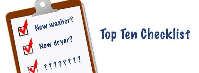 Washer and Dryer Checklist Superior Appliance Repair